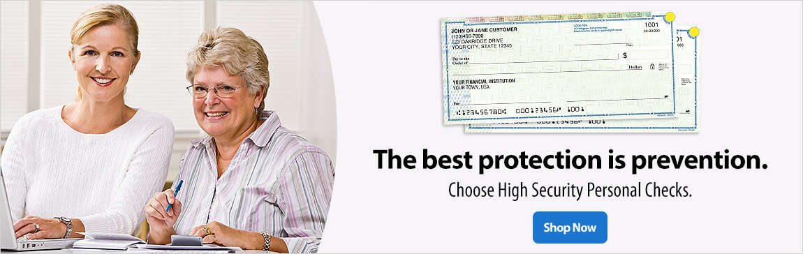 The Best Protection is Prevention - High Security Personal Checks