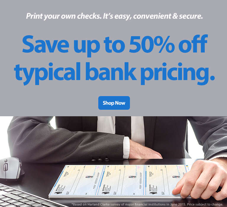 Print your own checks. It's easy, convenient & secure. — Save up tp 50% off typical bank pricing.