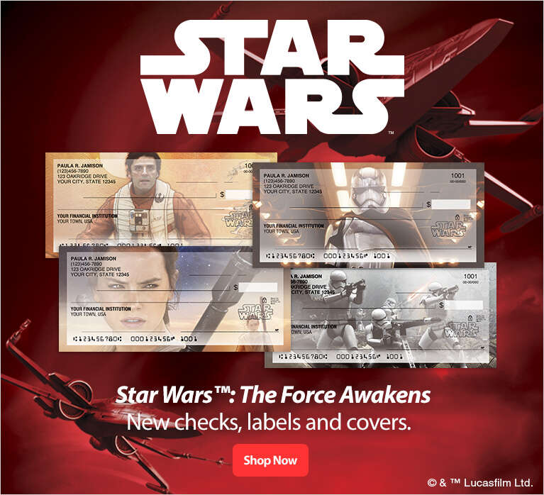 Star Wars : The Force Awakens - New checks, labels and covers