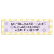 Delicious Dots Address Labels