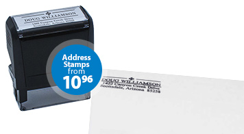 Personalized return address stamps